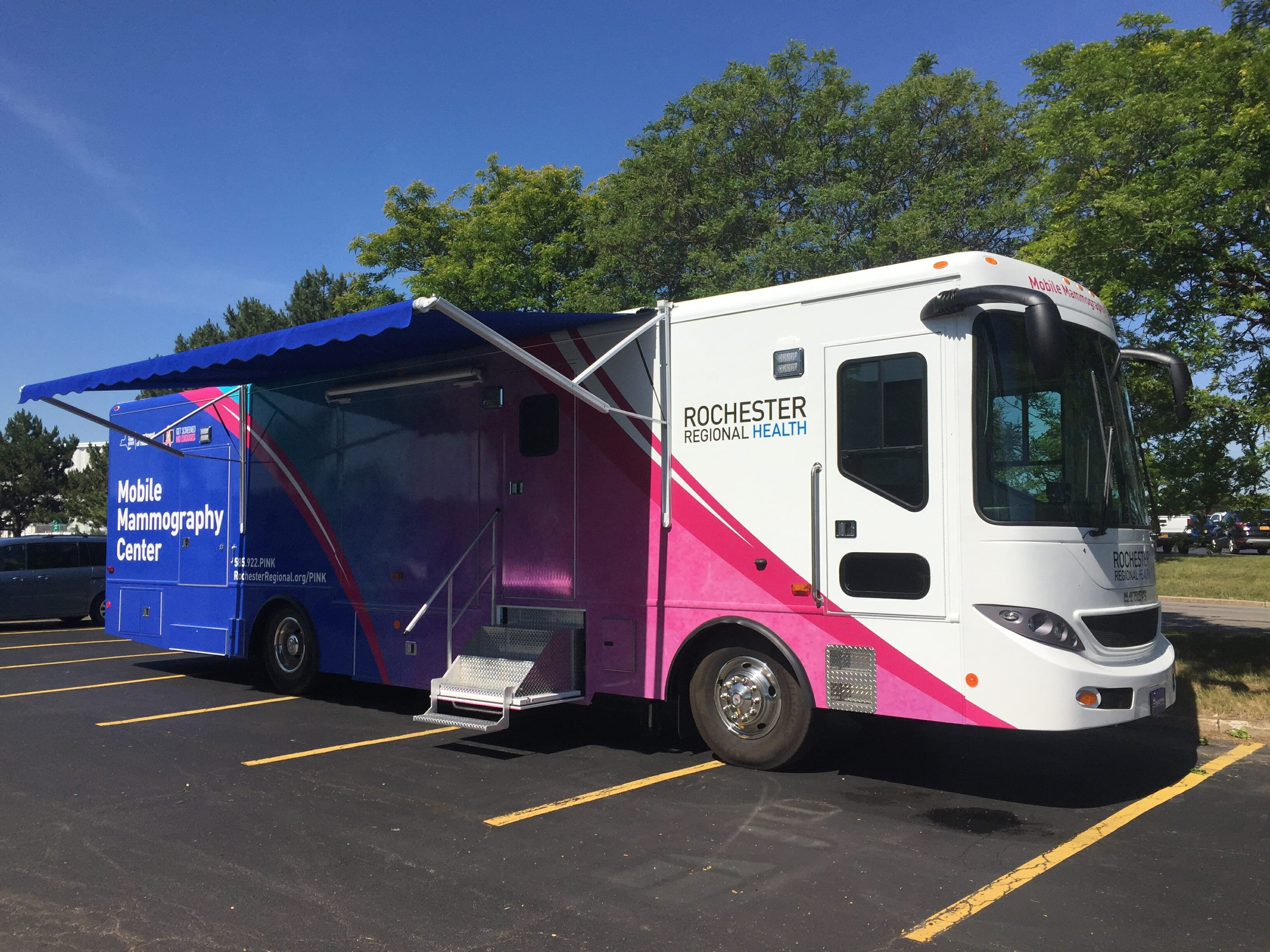 aycan store PACS install Rochester Regional Mobile mammography truck
